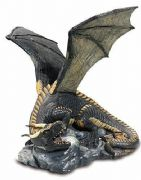 Dark Dragon Fantasy Sculpture Statue Figure Dragons Lovers Ideal Gift Ornament